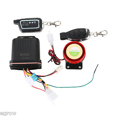 Motorcycle Remote Control Anti-theft Alarm System 2 Way Pager + Vibration Sensor