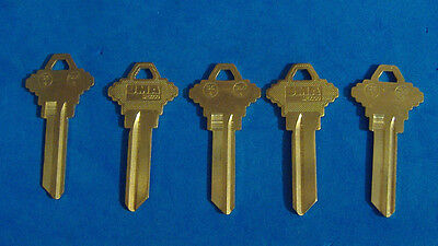 Lot Of Five Locksmith Sc4 6-Pin Key Blanks Fits Schlage Solid Brass