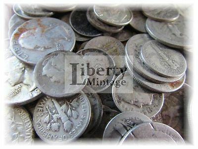 $10 Face Value - 90% Silver U.S. Coin Lot - Half Dollars, Quarters or Dimes CULL
