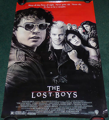 The Lost Boys 1987 Original Rolled 1 Sheet Movie Poster Kiefer Sutherland