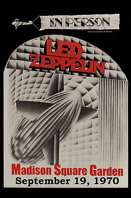 Led Zeppelin at The  MSG New York Concert Poster Circa 1970