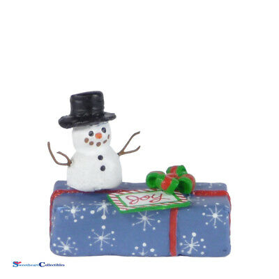 Wee Forest Folk Gift With Snowman A-34 Christmas 2015