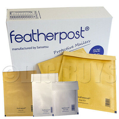 FeatherPost Padded Envelopes Style bubble Mail bags A/000 B/00 C/0 D/1 E/2 FGHJ