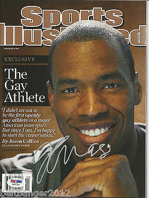 JASON COLLINS Signed SPORTS ILLUSTRATED with PSA/DNA COA (NO Label)