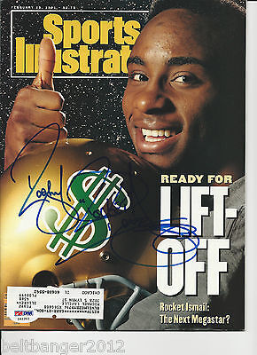 ROCKET ISMAIL Signed SPORTS ILLUSTRATED with PSA/DNA COA