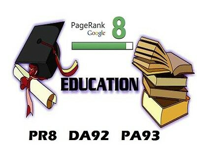 REAL BlogPost from PR8 .EDU ,  DA92, PA93, HIGH QUALITY Link and Dofollow !