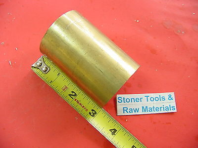 "2"" C360 BRASS ROUND ROD 3"" long Solid H02 Lathe Bar Stock 2.00"" OD x 3"""