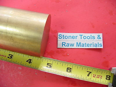 "2"" C360 BRASS ROUND ROD 4-1/2"" long Solid 2.00"" OD x 4.5"" H02 Lathe Bar Stock"