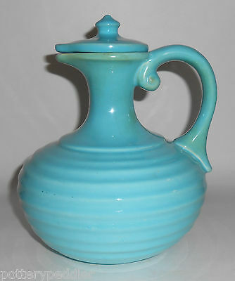 Early Franciscan Pottery Glacial Blue Ring Carafe WITH Cap! VERY RARE