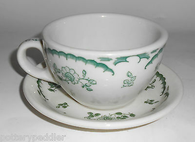 Tepco / Shenango Restaurant China Chardon Rose Cup/Saucer Set! MINT