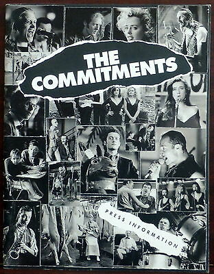 ~ The Commitments ORIGINAL 1981 Pressbook Glen Hansard of Once Alan Parker