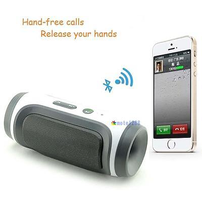 Portable Wireless Stereo Super Bass Bluetooth Speaker for iPhone Samsung Gray