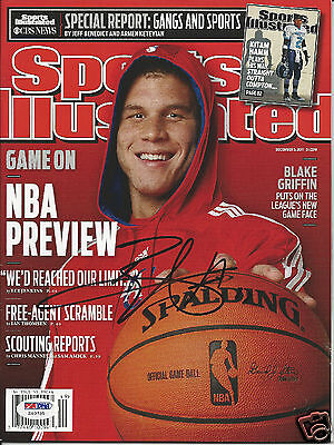 BLAKE GRIFFIN (Clippers) Signed SPORTS ILLUSTRATED with PSA/DNA COA (NO Label)