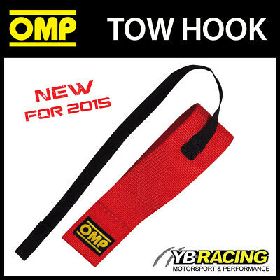NEW! EB/580/R OMP RACING TOW HOOK RED 2 inch ELASTIC CHASSIS STRAP FIA APPROVED