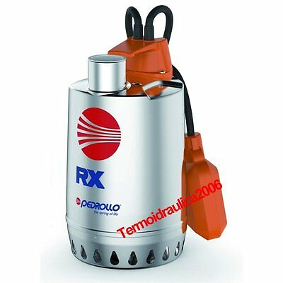 Submersible DRAINAGE Pump clear water RXm4 1Hp 230V 50Hz Cable10M RX Pedrollo