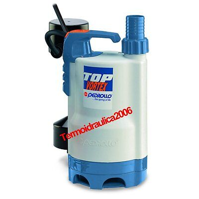 VORTEX Submersible Pump Dirty Water TOP3VORTEX GM 5M 0,75Hp 240V Pedrollo