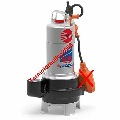 VORTEX Submersible Pump Sewage Water VX10/50N 1Hp 400V Cable5m Pedrollo 50Hz
