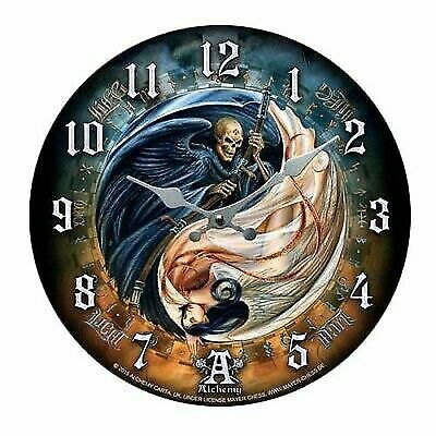 """Versus Doctrinus Reaper & Angel Wall Clock By Alchemy Gothic Round Plate 13.5""""D"""