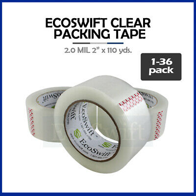 "1-36 Roll EcoSwift Packing Packaging Carton Box Tape 2.0mil 2"" x 110 yard 330 ft"