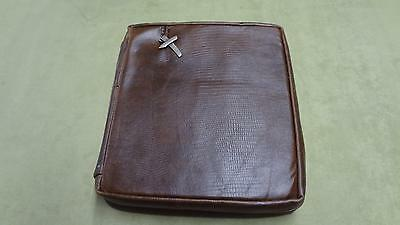 Crimson Truth Black Handcrafted Genuine Leather Bible Cover brown solid