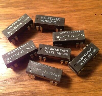 US SELLER $1 SHIP!5 Pc MAGNECRAFT REED RELAY W171DIP-25 5V DPST NOS