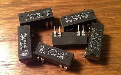 US SELLER $1 SHIP!5 Pc MAGNECRAFT REED RELAY W171DIP-9 12V SPST NOS
