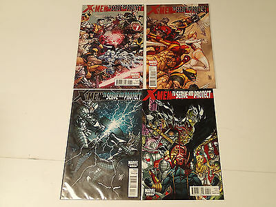X-MEN To SERVE and PROTECTY lot of 4 issues #1-4 Marvel Comics 2011 VF Complete