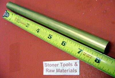 "1/2"" C360 BRASS SOLID ROUND ROD 8"" long H02 .50"" OD New Lathe Bar Stock 1/2 Hard"