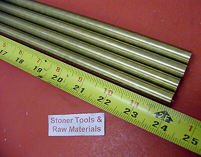 """4 pieces 1/2"""" C360 BRASS SOLID ROUND ROD 24"""" long New Lathe Bar Stock H02 .50 OD"""