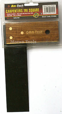 """6"""" 150mm Carpenters Tri Try Joiners Set Square Joinery Rosewood  P3386"""