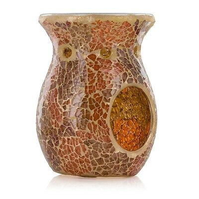 Ashleigh & Burwood Classic Glass Mosaic Sunlit Dunes Fragrance Oil Burner Gift