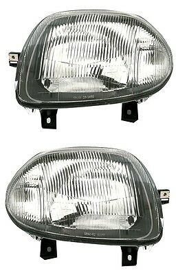 2 Phare Feux Avant Gauche + Droit H4 Renault Clio 2 Phase 1 09/1998-05/2001 Neuf