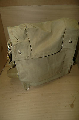Original British WWII  Mint MKVII Gas Mask Bag Indiana Jones Vintage vtg