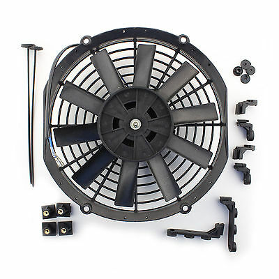"""ACP 10"""" Universal Push Radiator Cooling Fan Straight Blades Replacement Unit"""