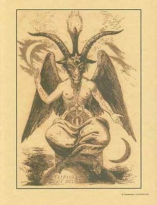 Baphomet Parchment Page for Book of Shadows!
