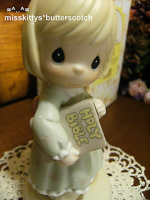 Precious Moments~679828~Good Advice Has No Price~Girl Holding Her BIBLE~star mk