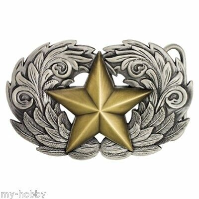 """1-1/2"""" Winged Star Trophy Belt Buckle - Tandy Leather #1770-07"""