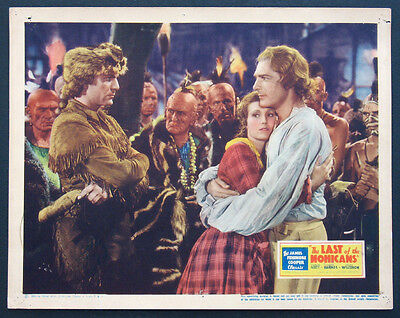 Last Of The Mohicans Randolph Scott 1936 Lobby Card