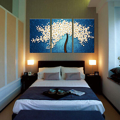 Canvas Prints Modern Home Decor Wall Art Picture Abstract Money Tree+Wood Frame