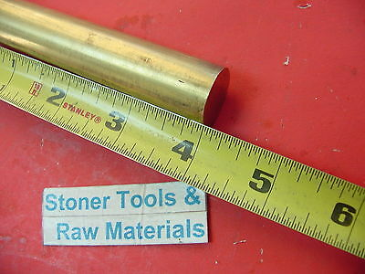 "7/8"" C360 BRASS SOLID ROUND ROD 4"" long New Lathe Bar Stock .875"" H02"