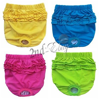 Female Dog Bitch Mating Season Heat Pants Knicker Hygiene Solid Colours XS S M L