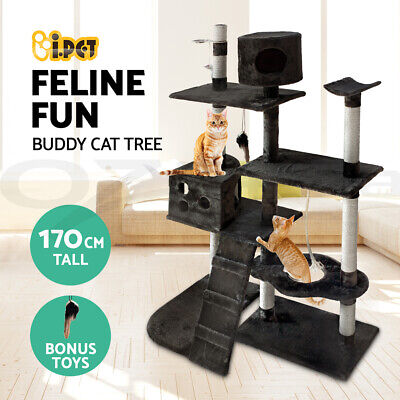 i.Pet Cat Scratching Tree Scratcher Post Pole Furniture House Toy Large 170cm