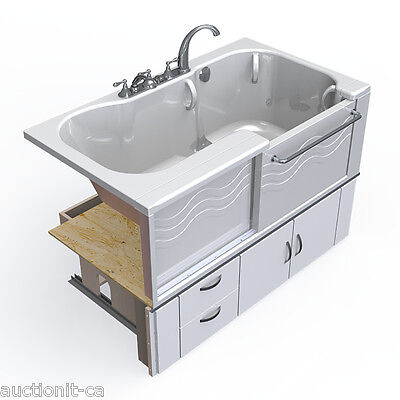 "Slide-in Active Living ADL Spa Accessible Bathtub Cabinet Base 58x34"" Wheelchair"
