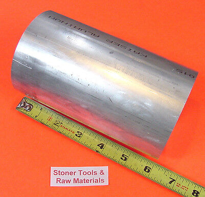 "3-1/2"" ALUMINUM 6061 ROUND ROD 6"" long T6511 Solid Lathe Bar Stock New 3.50"" OD"
