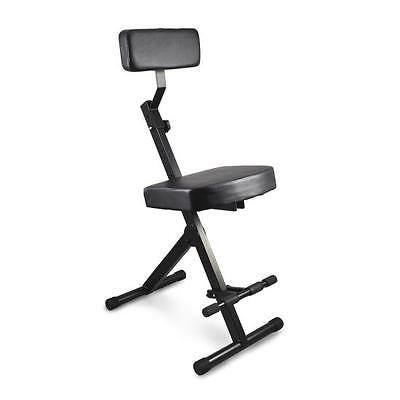 New Pyle Musician & Performer Chair Seat Stool, Durable, Portable, Adjustable