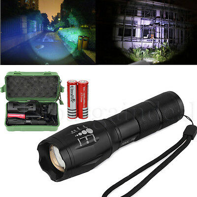New 3000LM CREE T6 LED Zoomable Rechargeable Flashlight Torch Light Lamp+Charger