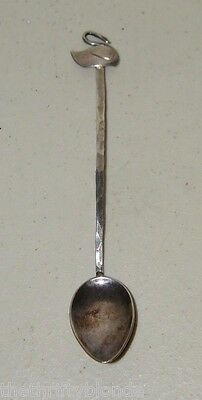 Canadian ARTS & CRAFTS Silver FLOWER SPOON Signed BOB FORD Swan 15983