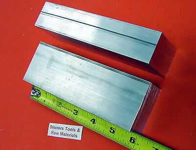 "2 pieces 1-1/4"" X 2-1/2"" ALUMINUM 6061 FLAT BAR 6"" long Solid T6511 Mill Stock"