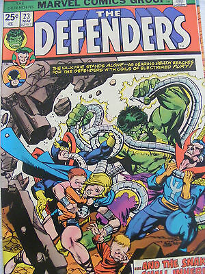 Defenders # 23 May 1975 Marvel Bronze Age Cents Copy