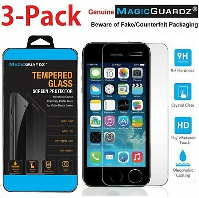 MagicGuardz® Genuine Premium Tempered Glass Screen Protector for iPhone 5S 5C 5